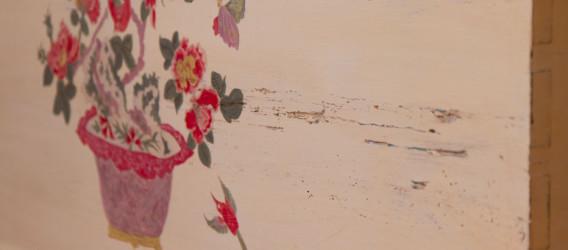 Sypialnia, freski, przecierki, malowana skrzynia
