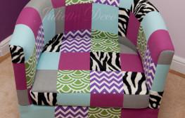Metamorfoza fotela Ikea na patchwork